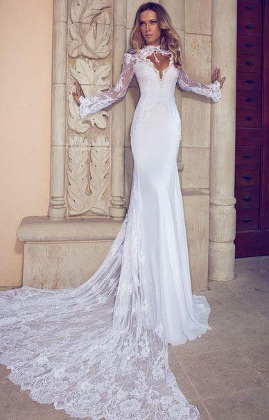 Julie Vino свадебные платья с длинными рукавами и шлейфом | смотреть фото цены купить
