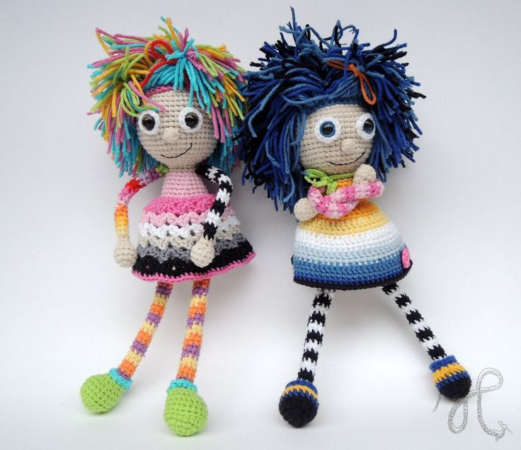 Amusing crochet dolls. So cute! (Inspiration).♡