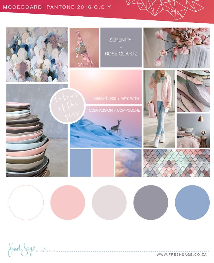Moodboard | Inspired by Pantone's Colour of the Year 2016 @FreshSageSA