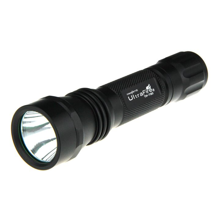 UltraFire TH-T60 HA-II XM-LT6 5-Mode 975-Lumen White LED Flashlight with Strap (1 x 18650)