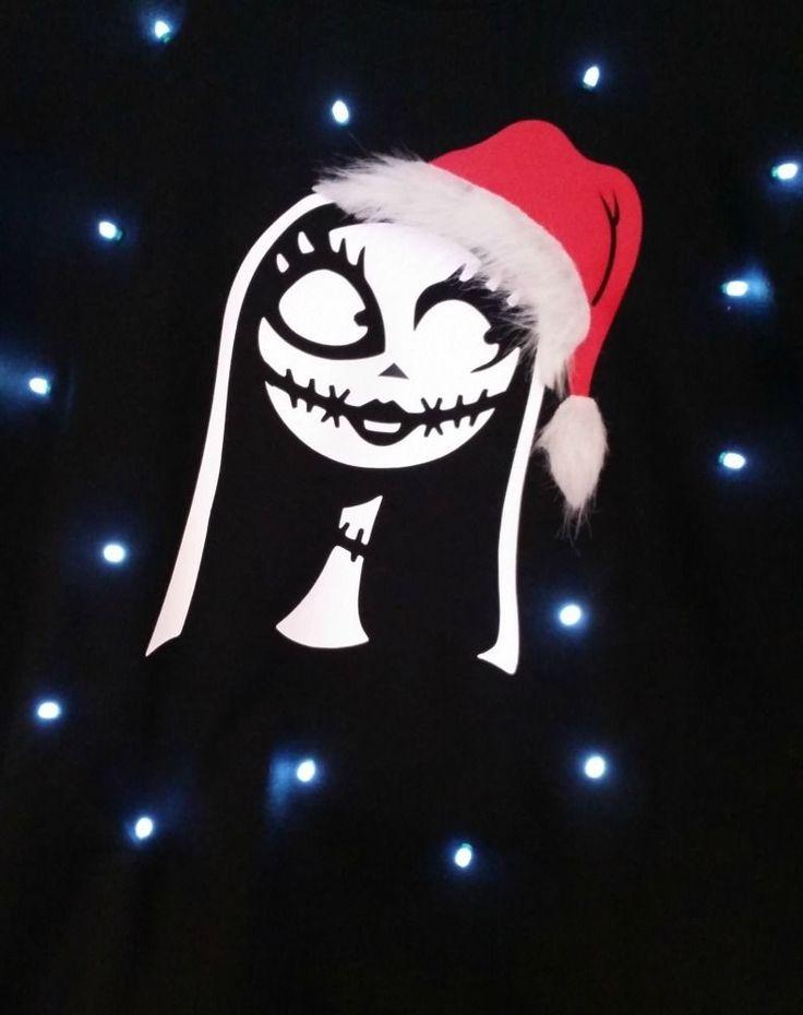 Ugly LIGHT UP CHRISTMAS SWEATER - Sally - Nightmare Before Christmas #Gildan