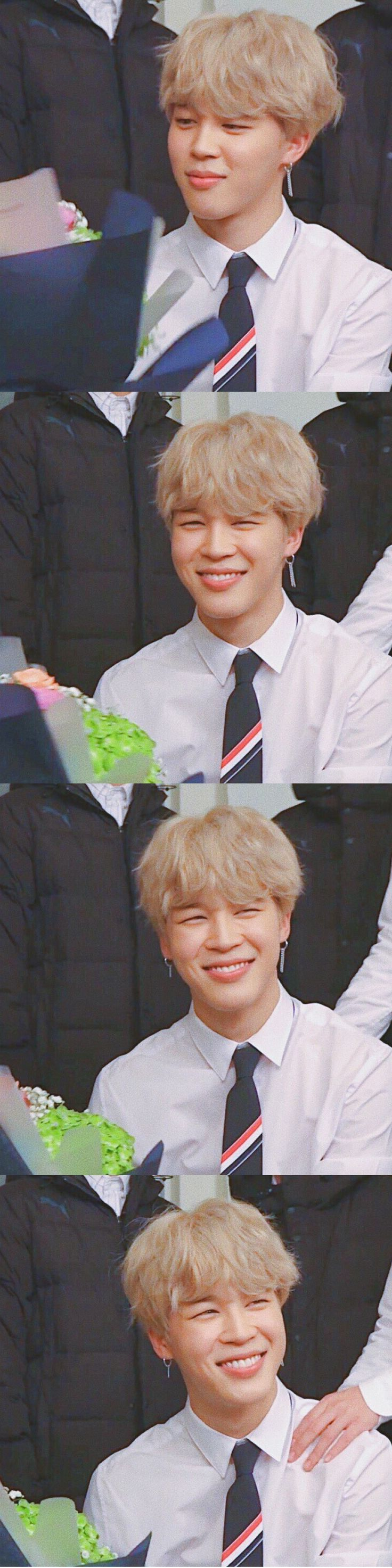 The evolution of Jimin's smile is really like flowers blooming