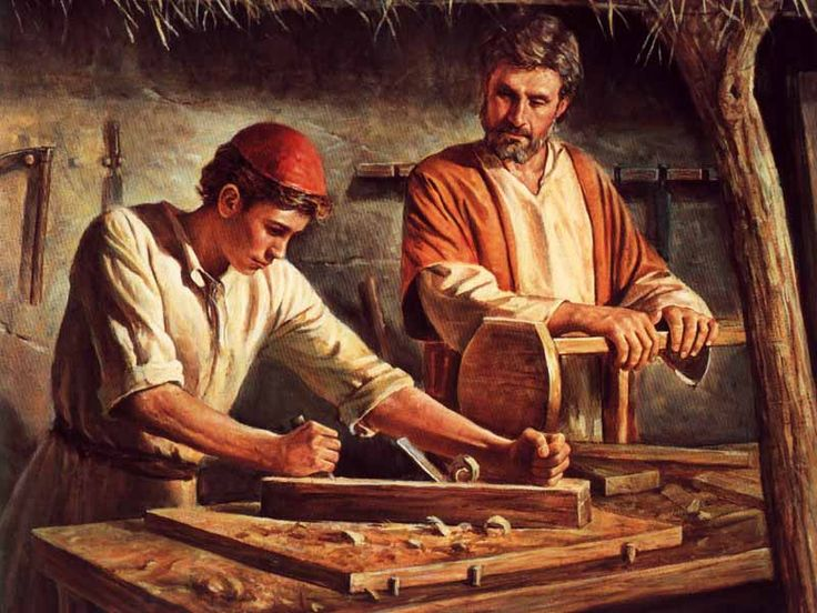 With father Joseph as young carpenter