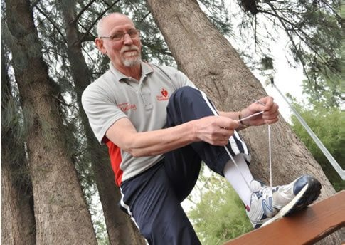 This is local man Alan Nelson who leads the Talk n Stride walking group on a Wednesday morning at 9am from Morella Community centre. Please call 0428 113 628 if you are interested in joining the walk group. #walking #healthy