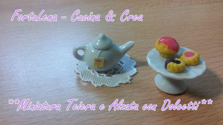 Tutorial Creativo Miniatura Teiera e Alzata con biscotti ^_^