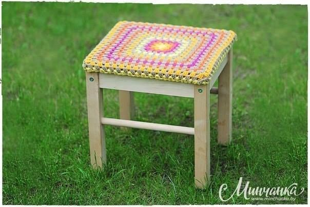 Galette De Chaise 13 Crochet D Amour Galette De Chaise Dessus De Chaise Crochet