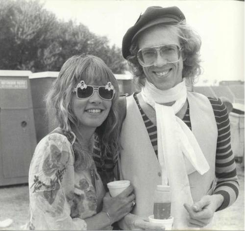 Former Fleetwood Mac guitarist Bob Welch - who sadly passed away recently, aged 66 - with Stevie Nicks.