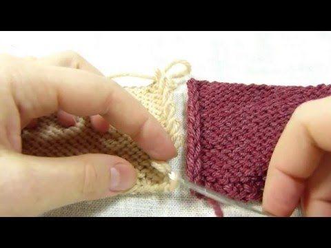 Трикотажный шов. Сшивание вязаных деталей крючком без дополнительной нити / Invisible knitted seam - YouTube