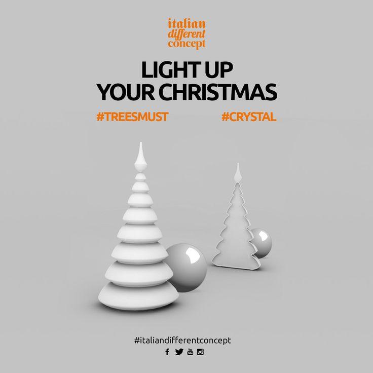 Light up your Christmas #myyour #design #italiandifferentconcept #treesmust #crystal #christmasdesign