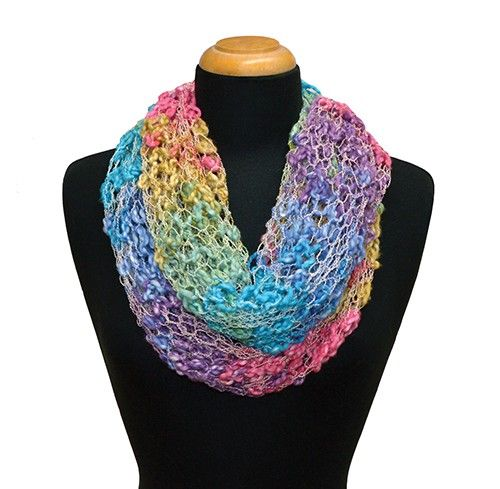 Knitting Patterns For Scarves Using Sock Yarn : Knit this cowl using King Cole Opium yarn. Knitting Pinterest Lace, Cow...