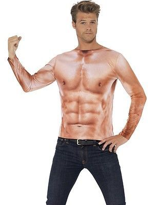 Realistic Muscle Top Mens Costume