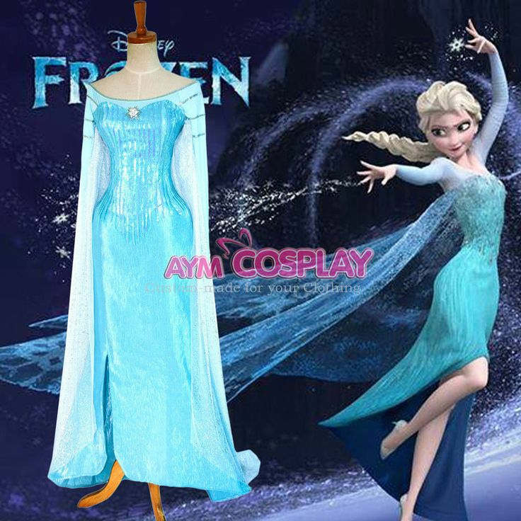 Disney Frozen Elsa dress Movie costume cosplay tailor-made  G1298