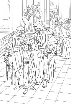 12 year old jesus found in the temple by james tissot coloring page http - Colouring Pages For 12 Year Olds