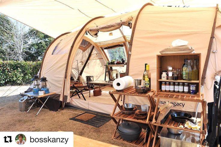 いいね!1,851件、コメント6件 ― OUTINGさん(@outingjp)のInstagramアカウント: 「@bosskanzy さんphoto✨ キャンプ中の過ごし方から 動線をしっかり考えて サイトをレイアウト✨ キッチンは外キッチン、 幕内にはコーヒーや抹茶タイム用に #ヤエンストーブナギ ***…」