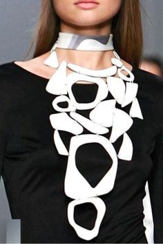 PUCCI - white enamel necklace- 2007