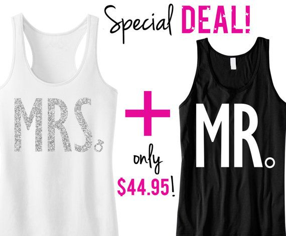 MRS Bride Tank  MR Groom Tank Top Special by #NobullWomanApparel! Perfect for the Honeymoon!
