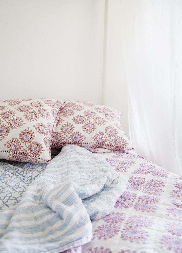 Periwinkle Quilt design by John Robshaw #PinToWin #Anthropologie