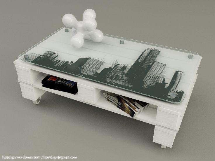 Mesa de centro / White_Pallet