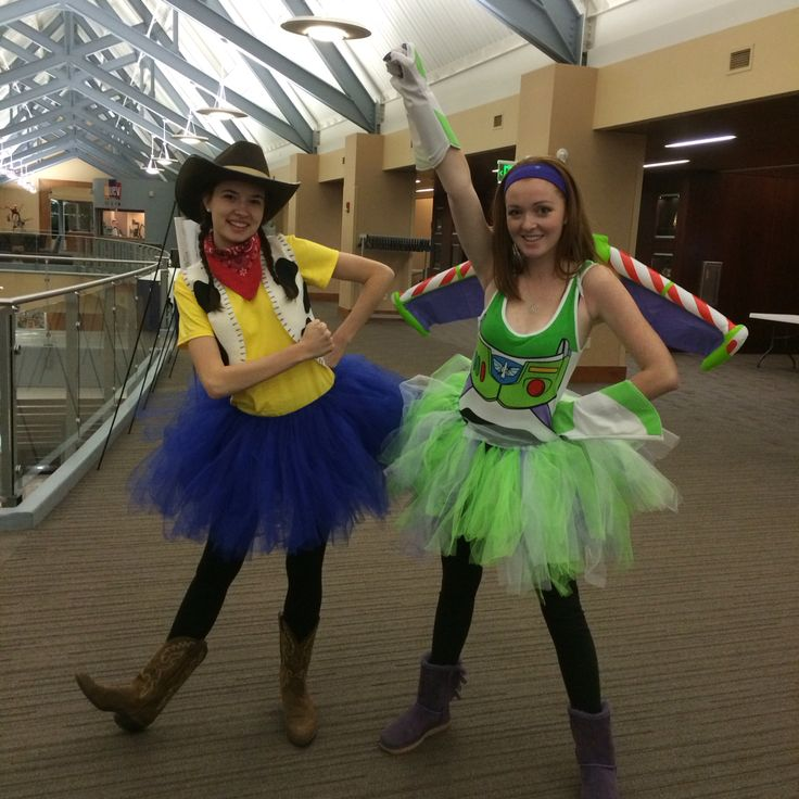 Woody and Buzz Lightyear from Toy Story Halloween costumes with tutu