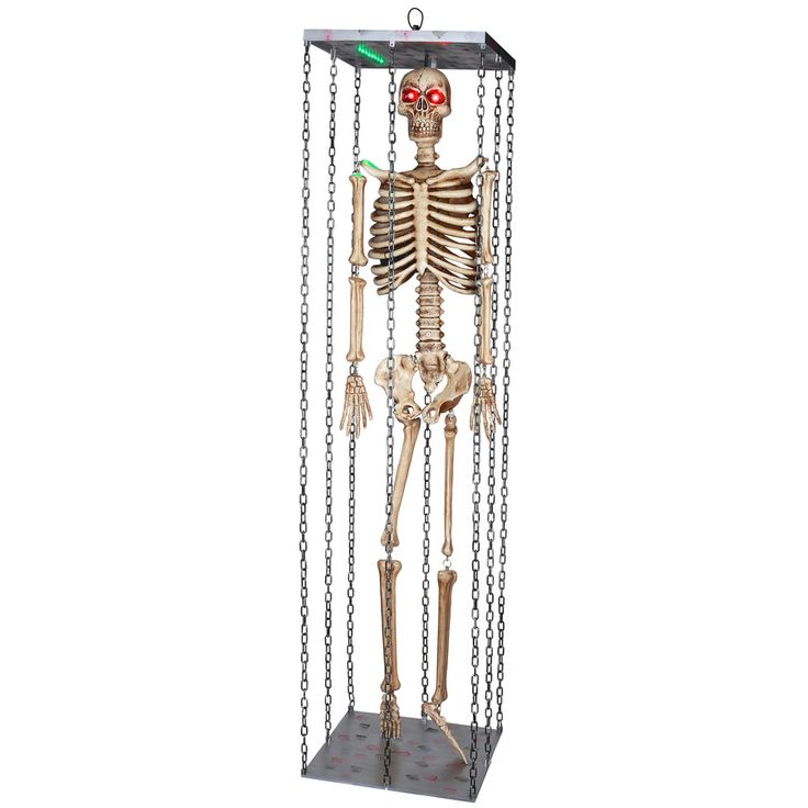 gemmy musical animatronic hanging skeleton outdoor halloween decoration - Lowes Halloween Decorations
