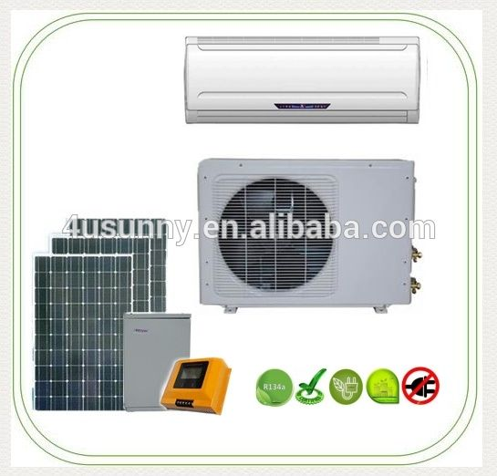 18000 BTU 1.5 Ton Ductless Wall Mount Mini Split Room Solar Powered Air Conditioner AC Conditioning Cooling System Unit