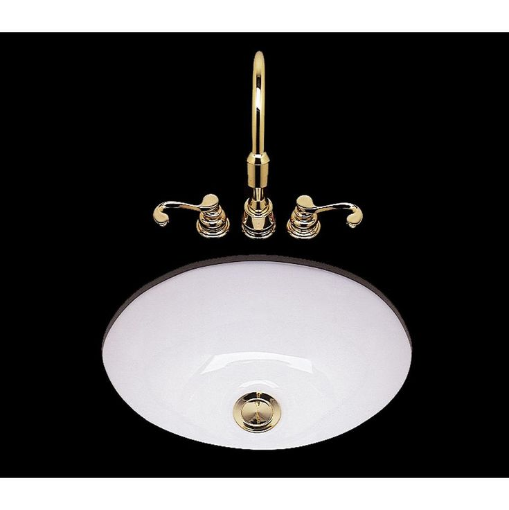 Bates And Bates Teri Collection Plain Single Glazed Small Oval Lavatory Sink,  Drop In