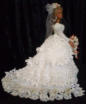 Lisa, Crocheted Bride Doll