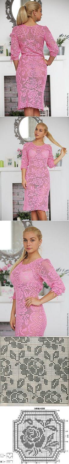 Платье с филейными узорами