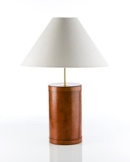 "Lampa Kensington i läder. Lamp ""Kensington"". www.longcoastliving.se"