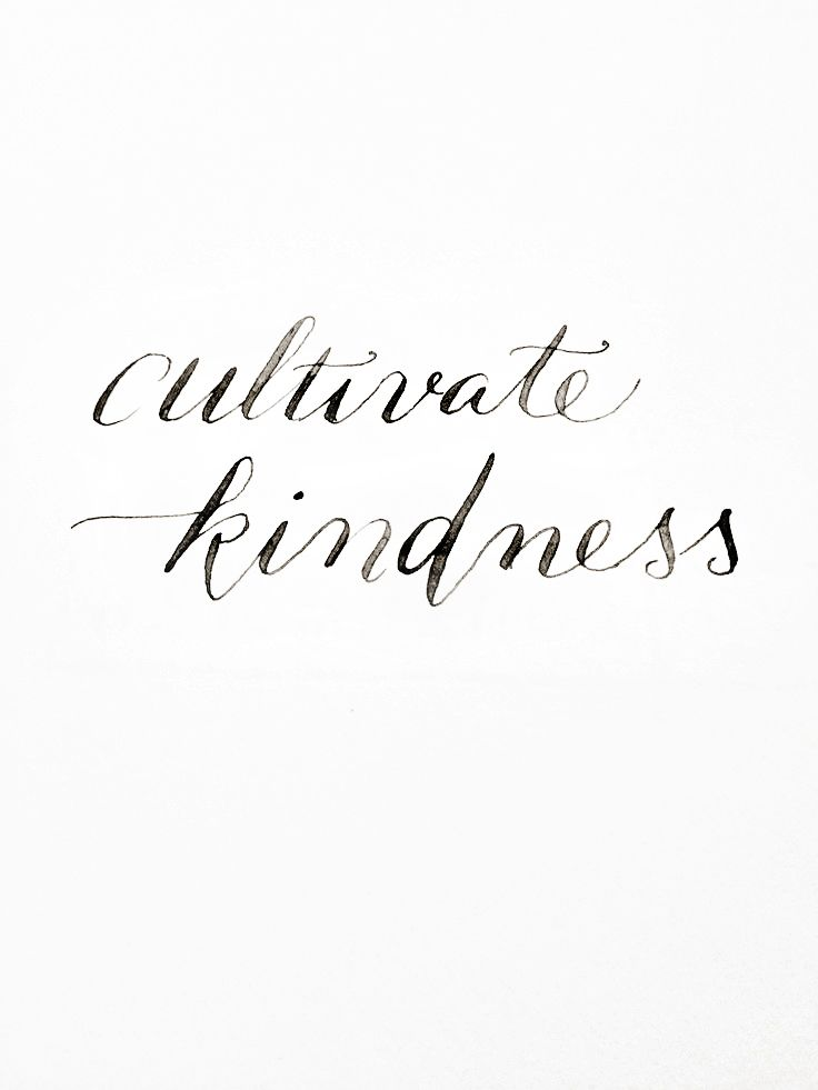 Cultivate kindness.