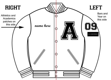 letterman jacket patches placement - Google Search