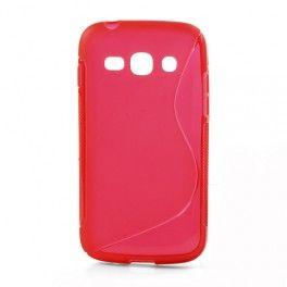 Galaxy ace 3 punainen silikonisuojus.