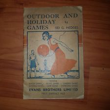 outdoor and holiday games by Sid g Hedges
