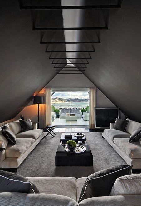 black, white, decor, interior, house, home,
