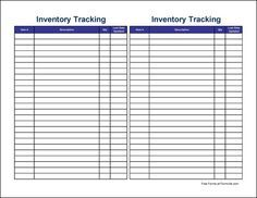 "Free Inventory Forms | ... preview of the ""Small Simple Inventory Tracking Sheet (Tall)"" form"