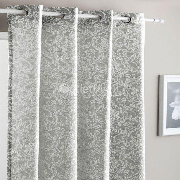 Cortina Confeccionada LENA Fundeco. Elegantes cortinas confeccionadas disponibles en gris o beige con un bonito estampado floral en blanco roto. Perfectas para dar un toque de distinción a tu habitación o comedor.