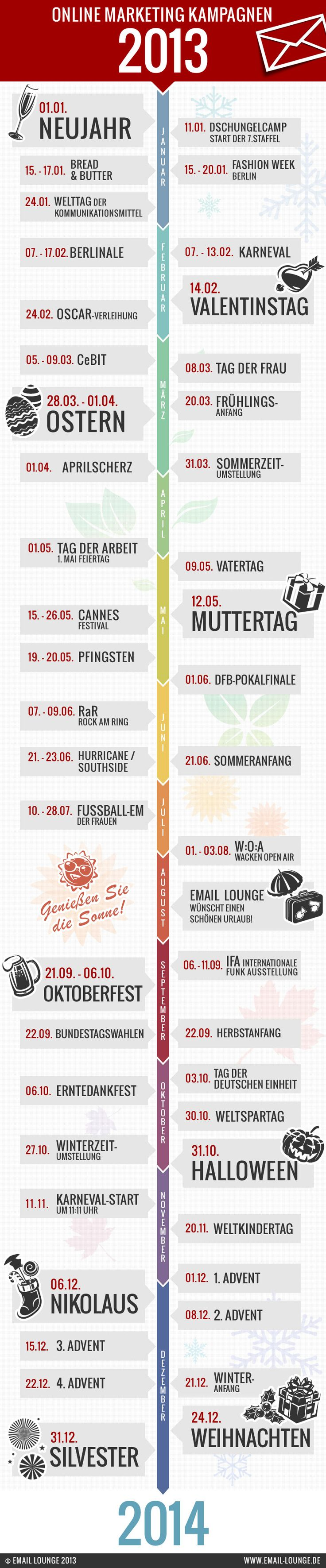 Perfekt für den Social Media Manager: Eine Infographik mit allen Anlässe des Jahres. Jetzt schon Postings vorschedulen!