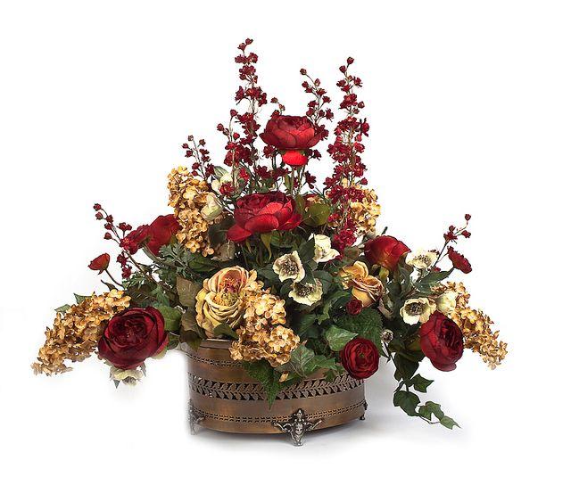 27 best images about florals arrangements on pinterest for How to make artificial flower arrangements