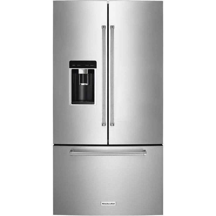 Kitchenaid Black Stainless Steel Counter Depth French Door: Best 25+ Counter Depth Refrigerator Ideas On Pinterest