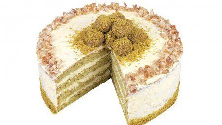 Фисташковый торт с апельсиновым кремом