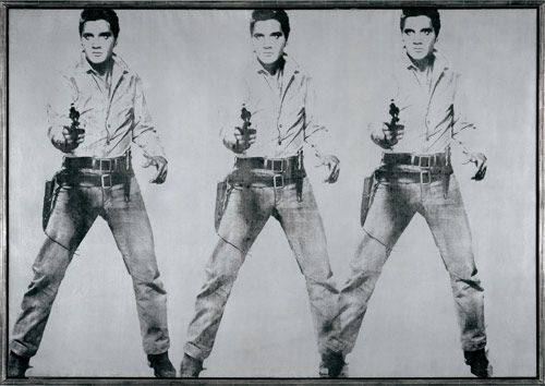Andy Warhol- Triple Elvis (1963)- The Doris and Donald Fisher Collection at the San Francisco Museum of Modern Art