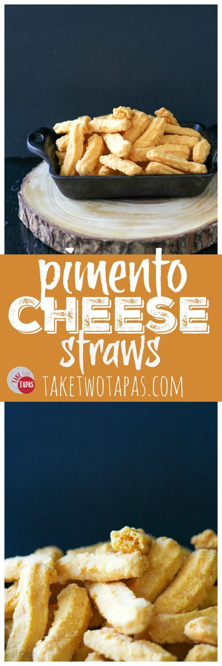 Crispy, spicy, flaky, and cheesy is the perfect combination for these addicting bites! Pimento Cheese Straws Recipe | Take Two Tapas