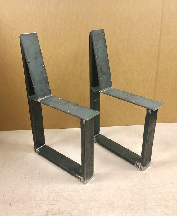 U Shaped Bench Steel Legs With Back Rest Set Of 2 Steel Bench Etsy Steel Bench Bench Legs Steel Table Base