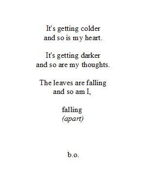 Poem falling apart
