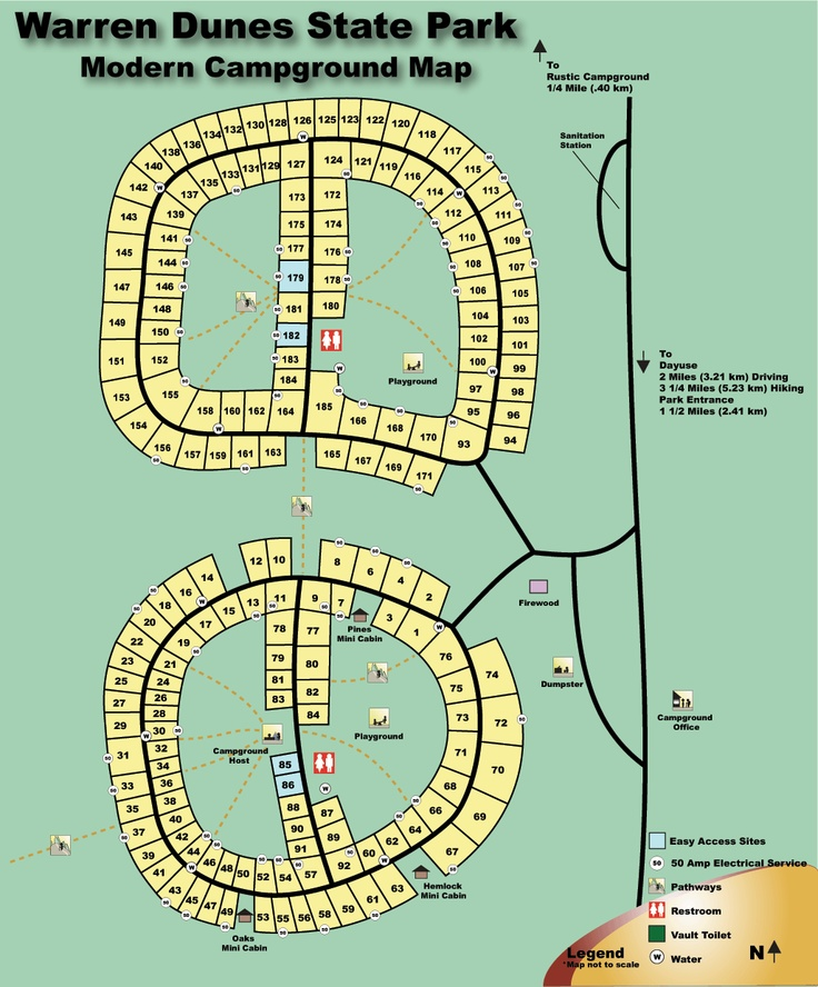 10 Best Vacation With Family 2013 Images On Pinterest Warren: Warren Dunes State Park Trail Map At Usa Maps