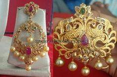 Jewellery Designs: Pendant with Chandbalis 2 Lakhs