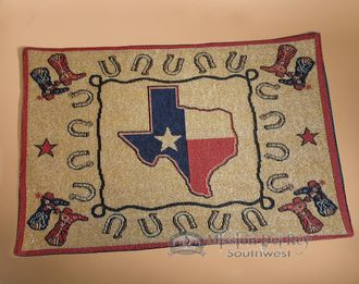 Woven Western Tapestry Placemat 13x19 -Texas (tpm149)