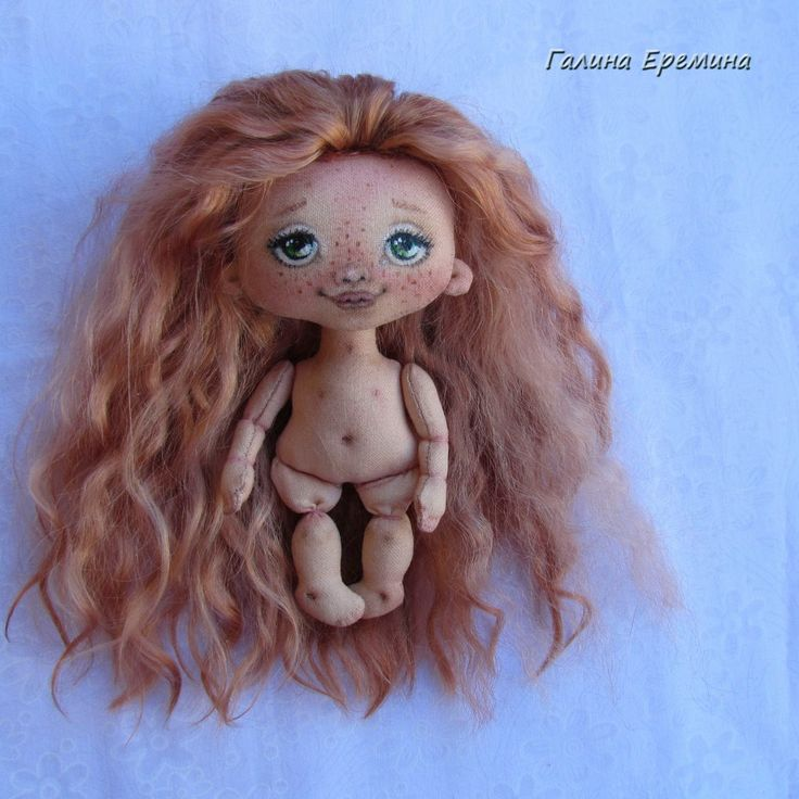 Галина Еремина, текстильная кукла малышка,