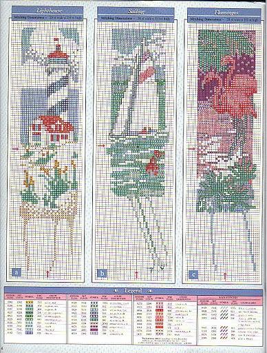 lighthouse, sailboat, flamingo