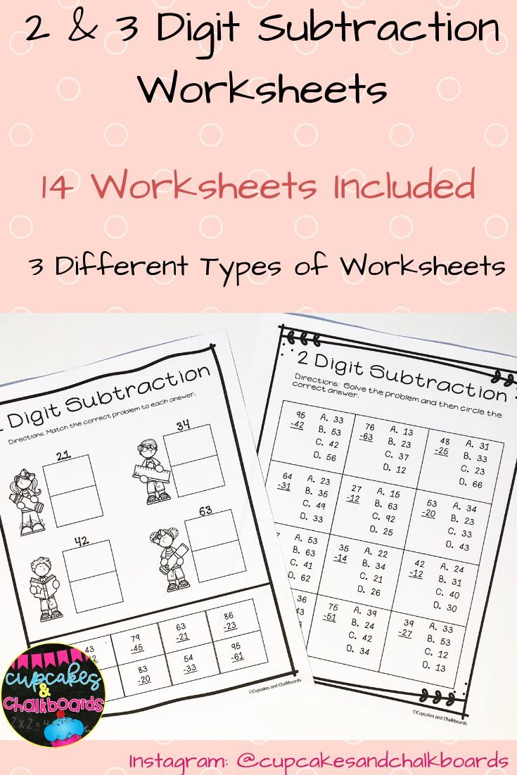 Pin On My Tpt Store Cupcakes And Chalkboards Subtraction Worksheets Subtraction Kindergarten Worksheets Printable [ 1102 x 735 Pixel ]